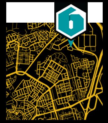 NetwerkZes kaart